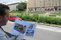 Náměstí TGM v Havířově-Šumbarku před rekonstrukcí.