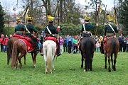 Ukázky výcviku Napoleonových vojáků a další parádičky provázely v sobotu slavnostní zahájení letošní sezony na Zámku Fryštát v centru Karviné.