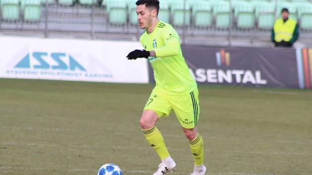 Martin Bukata, jeden z mnoha slovenských hráčů v karvinské kabině.