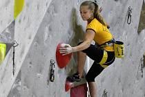 Markéta Janošová je mistryní republiky v lezení na obtížnost mezi dívkami.