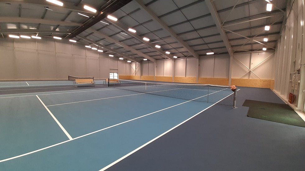 Havířov Životice, areál Tenis Hill. Krytá tenisová hala.