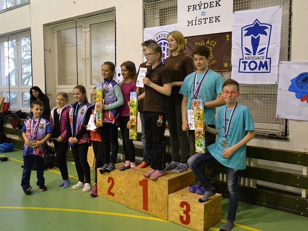 Družstvo žactva na druhém místě v Poháru Moravskoslezského kraje.