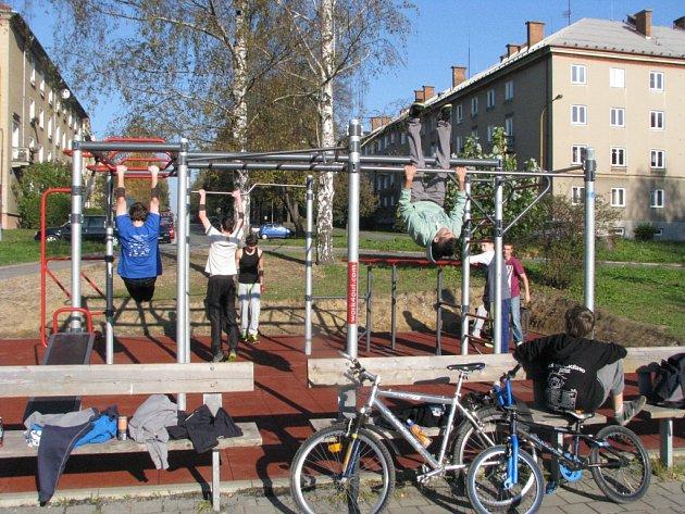 Workoutové cvičiště v centru Havířova.