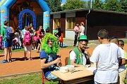 Součástí dětského odpoledne byla i řada soutěží a tanečních vystoupení.