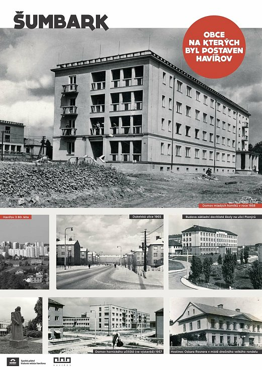 Panely z výstavy věnované 65 letům vzniku Havířova.