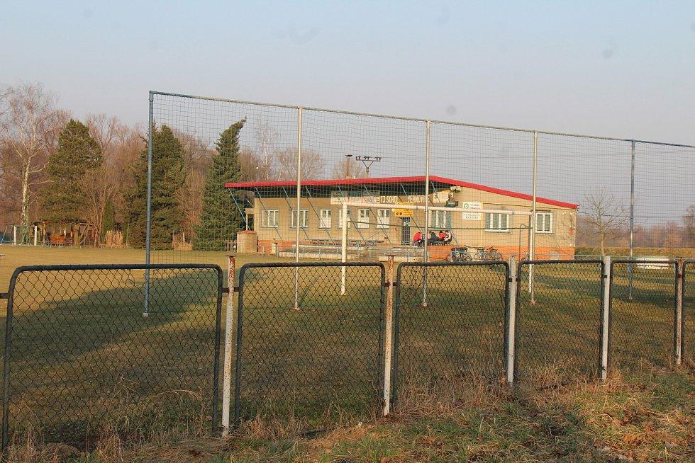 Věřňovice, fotbalový areál.