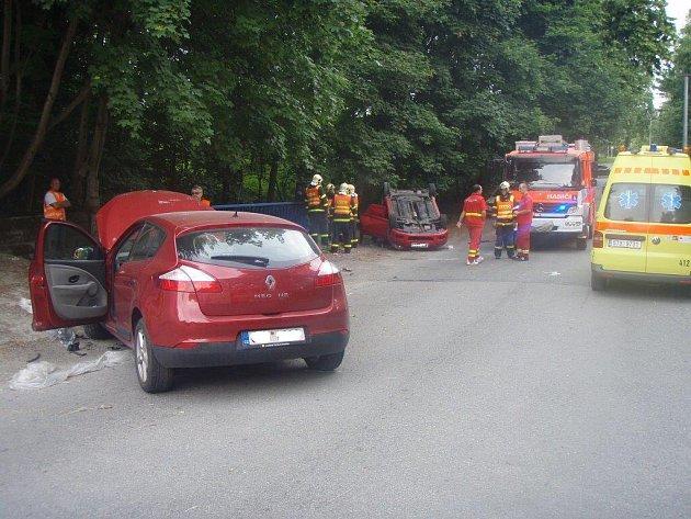 Záchranná akce u nehody v Orlové.