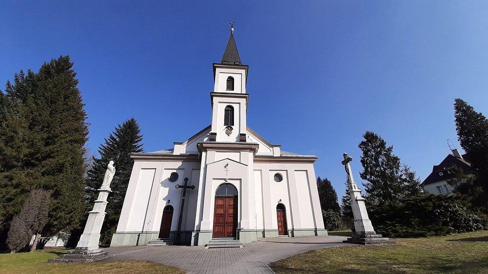 Horní Suchá. Katolický kostel.