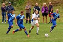 Havířovanky (v modrém) si v poháru poradily s Baníkem 3:0.