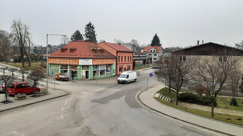 Dolní Lutyně. Pohled na centrum obce.