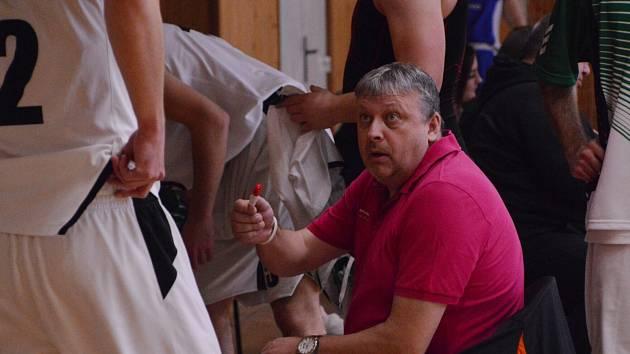 Trenér a předseda karvinského basketbalového klubu Roman Hamrus.