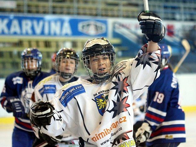 Karvinské hokejistky (v bílém) potvrzují v lize žen své kvality.