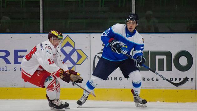 Hokejisté Orlové na svého soupeře v omlazené sestavě nestačili.