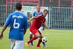 Havířovští fotbalisté (v modrém) prohráli doma s Třincem a v poháru končí.