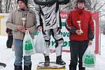 Vítězové zimního Fichtl cupu v Těrlicku Richard Ševčík z Nová Bělá, David Bom z Těrlicka-Hradiště a Patrik Čajka z Třanovic.