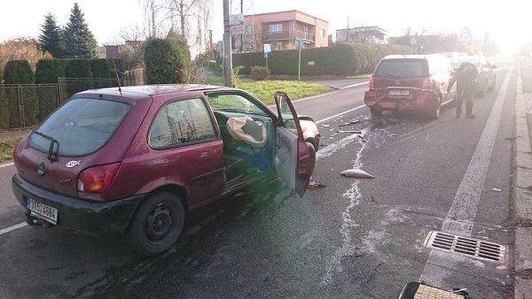 Nehoda na Těšínské ulici vHavířově.
