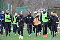 Karvinští fotbalisté na startu zimní přípravy.