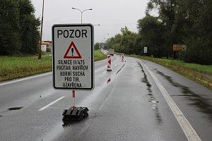 Uzavírka Ostravské ulice před Havířovem