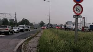 požár benzinka český těšín