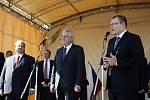 Prezident Zeman při setkání s občany Karviné.