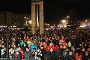 Rozsvícení vánočního stromu v centru Havířova.