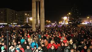 Rozsvícení vánočního stromu a ohňostroj v Havířově