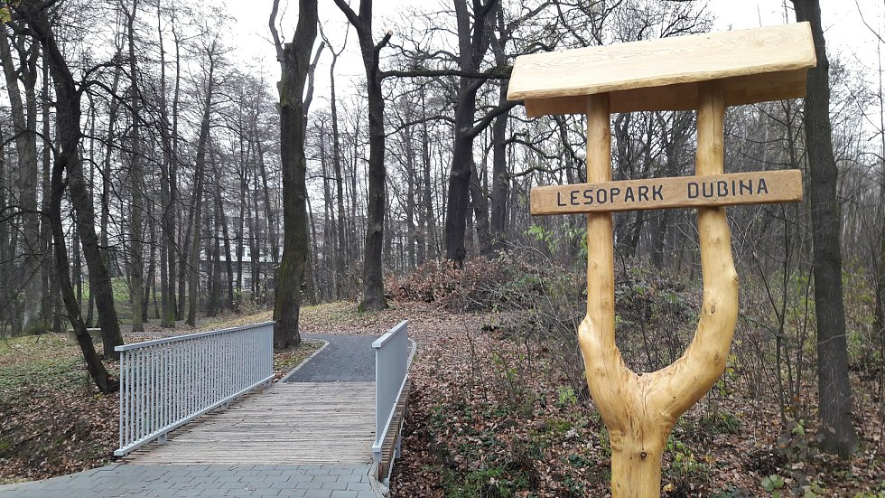 Revitalizace lesoparku Dubina bude na jaře pokračovat.