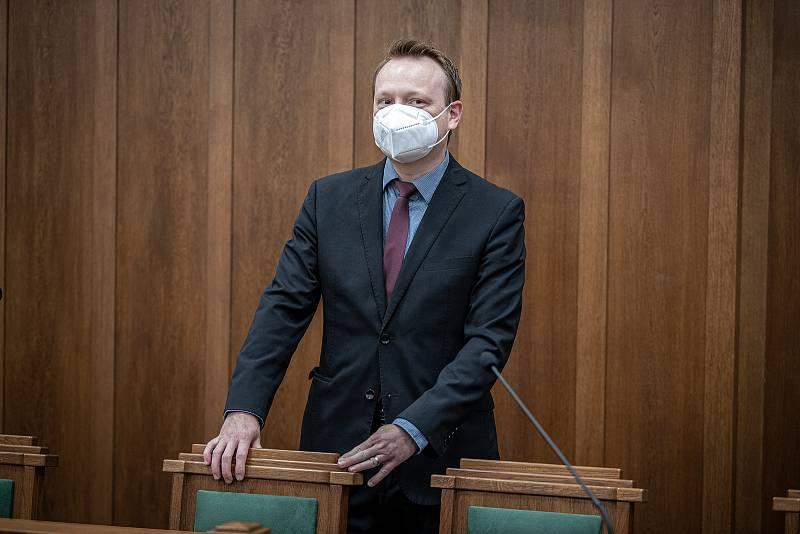 Soud s bohumínským žhářem Zdeněk K. na Krajskému soudu v Ostravě, 19. října 2021. Státní zástupce Michal Krol.