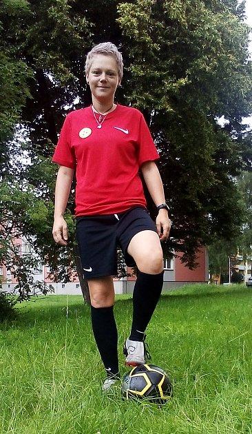 Fotbalová trenérka Monika Kosťová.