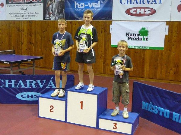 Nejúspěšnější děti havířovských základních škol ve stolním tenise.