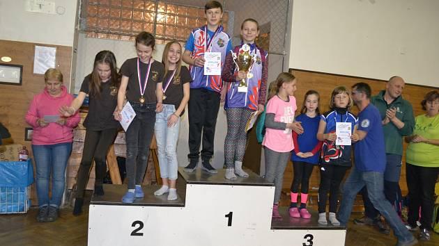 Jan Kůrka a Nella Ligocká z MSK Orlová s vítězným Bílým pohárem.