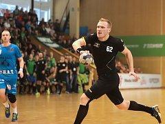 Jan Zbránek a jeho spoluhráči přivítají ve finále házené Plzeň.