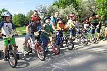 Cyklistické závody dětí v Havířově.