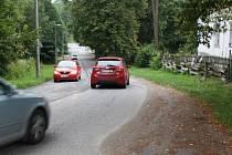 Nebezpečná silnice v Orlové.