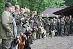 Zkoušky loveckých psů v Havířově.