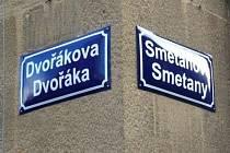 Dvojjazyčné názvy.