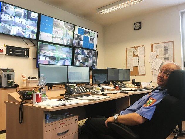 Dispečink městské policie.
