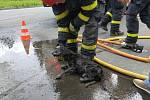 Byl to boj! Vyčerpaného pejska Artura vytáhli v Havířově z kanalizace až hasiči.
