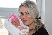 Julie Fodorová se narodila 14. února. Měřila 48 cm, vážila 3240 g.