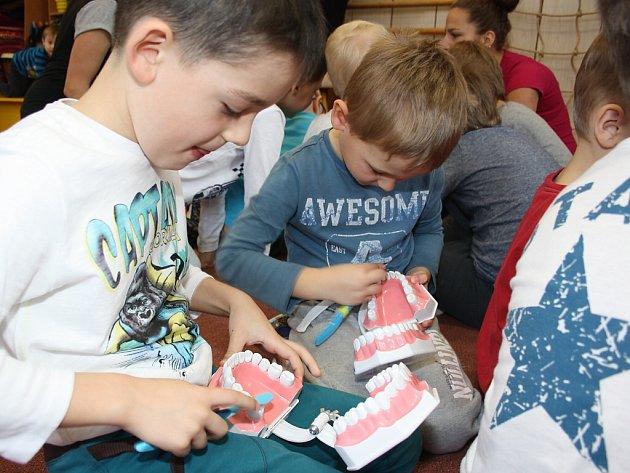 Předškoláci se učili, jak se správně starat o své zuby.
