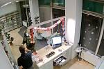 Záběry průmyslových kamer z přepadení