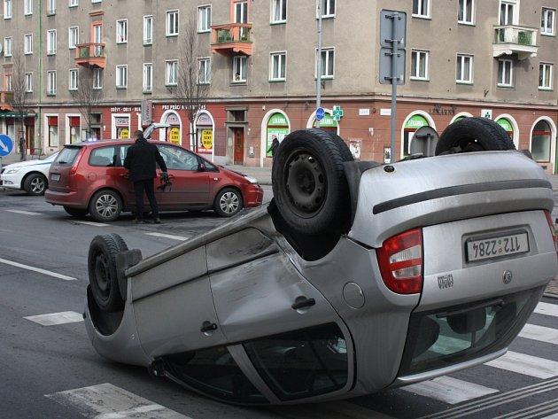 Nehoda v centru Havířova.