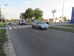 Dopravní nehoda s účastí chodce.
