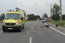 Místo dopravní nehody.