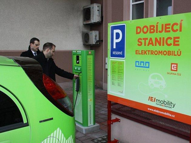 Elektromobil ve službách havířovské radnice.