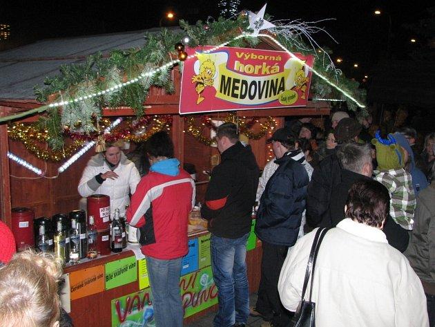 Vánoční městečko v Havířově.