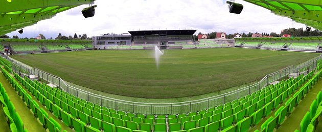 Fotbalový stadion vKarviné.