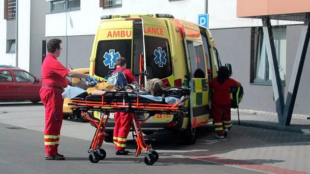 Převoz pacienta ze SeniorCentru Senecura v Havířově.