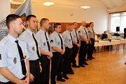 Vedení Havířova a městské policie vyhodnotilo rok 2017 a ocenilo strážníky za dlouholetou službu i za mimořádné zákroky. Nováčci v řadách MP Havířov.