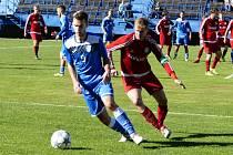 Havířovští fotbalisté (v modrém) přehráli Ústí 2:0.